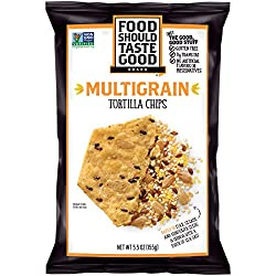 Food Should Taste Good Tortilla Chips Gluten Free non-GMO Multigrain 5.5 oz Bag