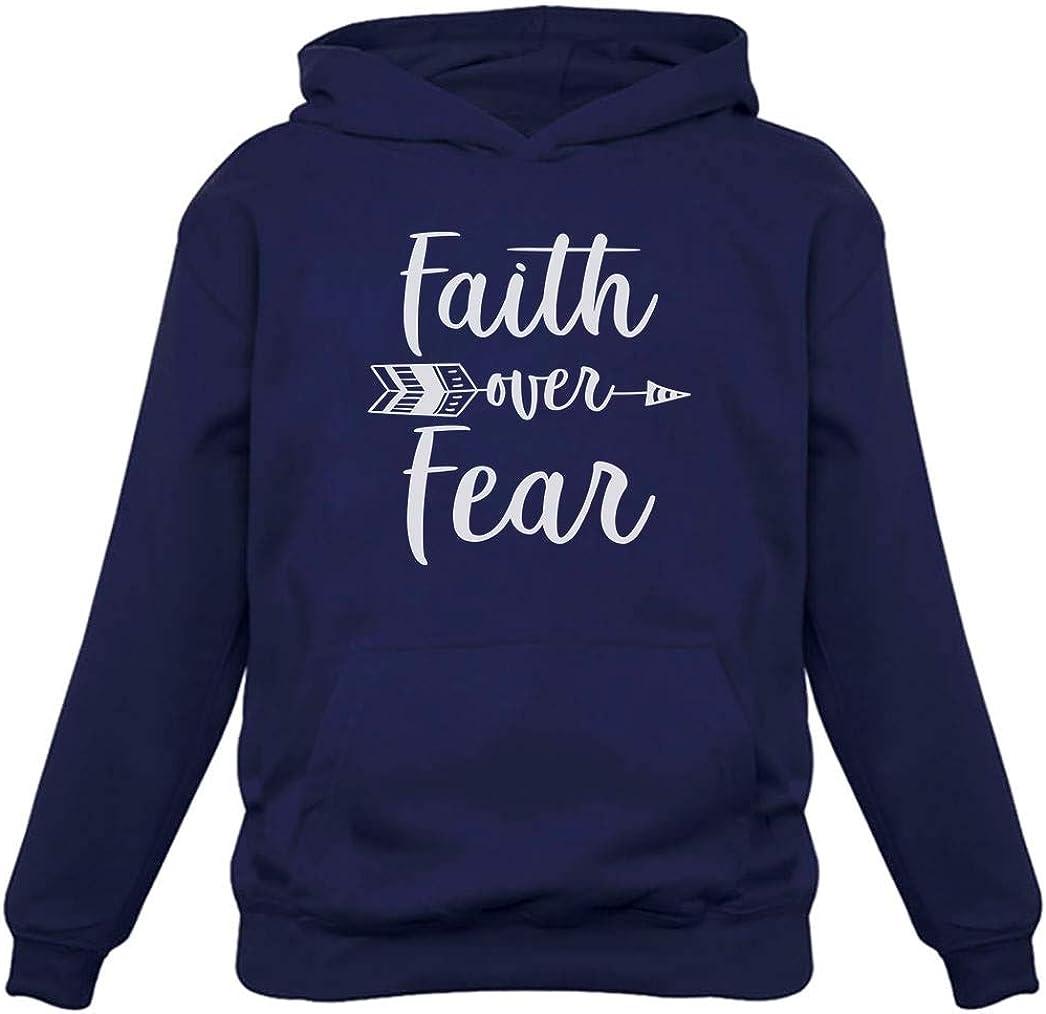 Tstars - Faith Over Fear Christian Fashion Gifts Women Hoodie