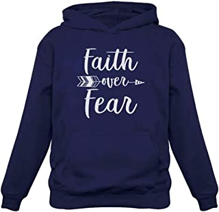 Tstars - Faith Over Fear Christian Fashion Gifts Women Hoodie