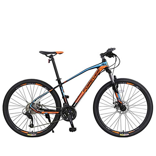 YUKM 27-Speed Mountain Bike, 26/27.5 Inch Wheels, Aluminum Alloy Frame, Wire Disc Brake, Mountain Bike,Red Blue,26 inches