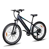 Macwheel 27.5' Electric Mountain Bike, Removable 36V/12.5Ah Battery Integrated with Frame, Shimano 7-Speed, Suspension Fork, Front Suspension, Tektro Dual Disc Brakes for Sport Cycling