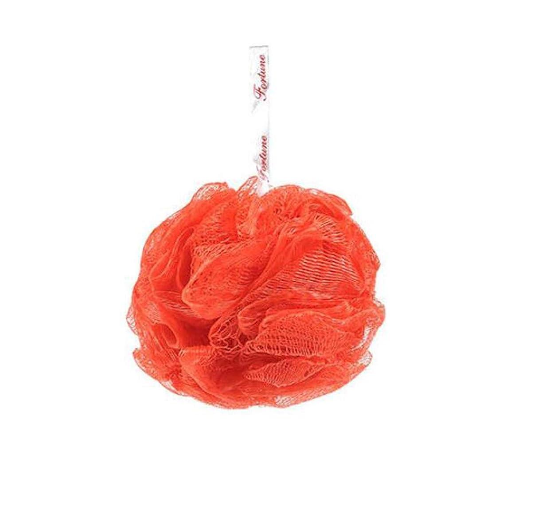 洗練された立方体終わりHJ ボディウォッシュボール フラワーボール 泡立てネット たっぷり泡立つ お風呂用ボール ふわふわ 色ランダム (4個セット)