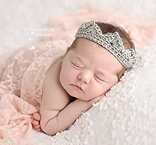 Baby Crown, All Infant Sizes, First Birthday Prop, Gender Neutral Photo Prop, Silver