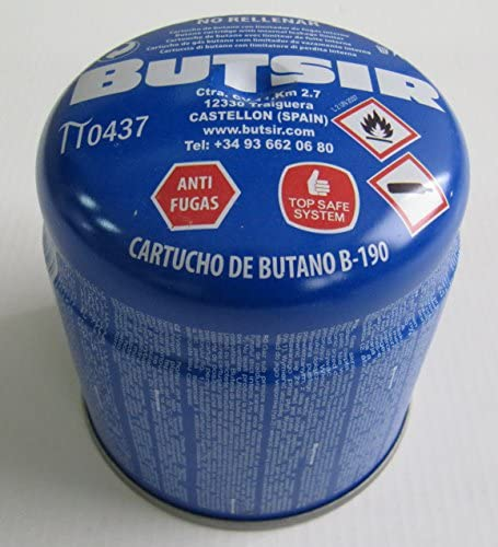 Cartucho de gas 190 gr – bombona perforable con limitador de ...