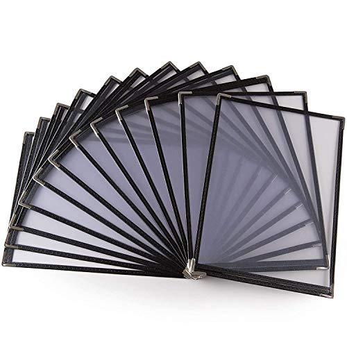 Soaying Paquete de 10 Cubiertas de Menú-Una PáGina, 2 Vistas, Adapta una Papel de 8,5 X 11 Pulgadas-Cubiertas de Menú de Restaurante