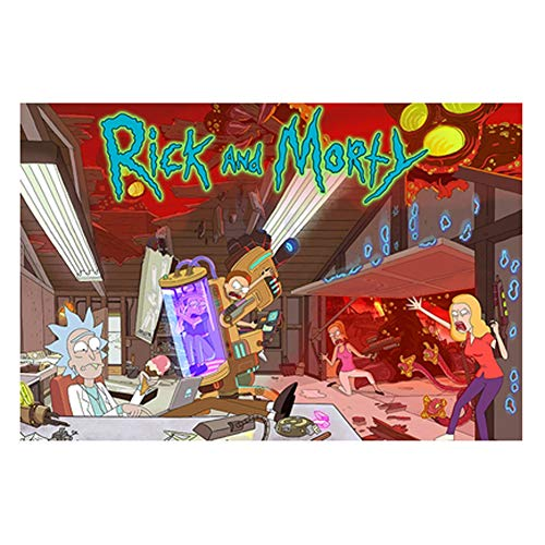 VAST Rompecabezas for niños for niños, Dibujos Animados y Rick Morty Animado Tilo Rompecabezas, Fit 300 ~ 1000 Piezas en Caja Juguetes Arte del Juego 523 ( Color : A , Size : 1000pc )