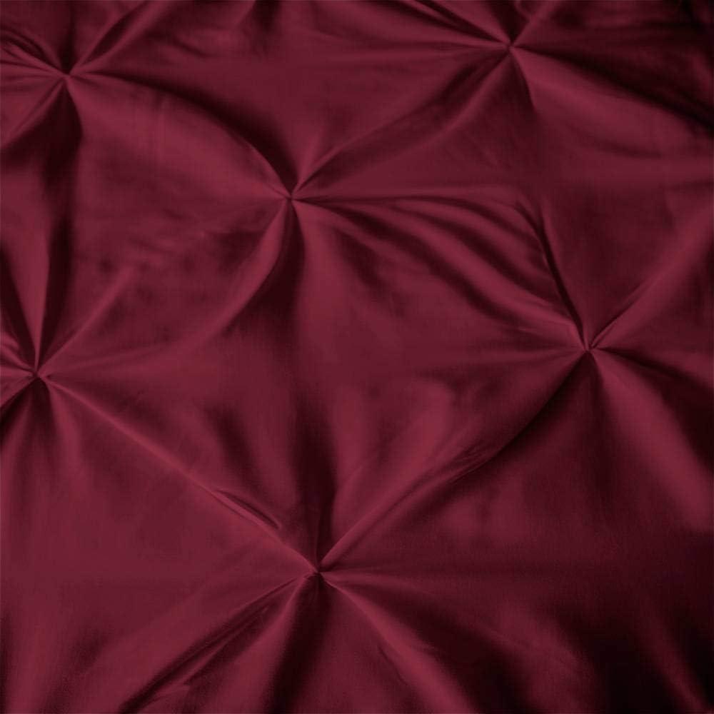 knitterfreie Mikrofaser-Bettw/äsche 3-teiliges Daunen-Bettw/äsche-Set ExceptionalSheets Queen-Size-Bettw/äsche-Set dekoratives Quetschfalten-Design Marineblau