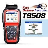 Autel TPMS Relearn Tool MaxiTPMS TS508, Program MX-Sensors(315/433MHz), Activate/Relearn All Brand Sensors, Read/Clear DTCs, Reset TPMS Light (Upgraded TS401/408/501)