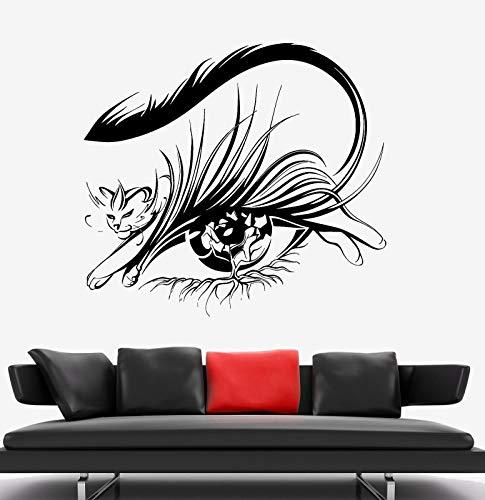 zhuziji Wandkunst Aufkleber Für Wohnzimmer Quotesbeautiful Katzenauge Pflege Auge Muster Für Polster PVC Haushalt wasserdichte Kinder. Wohnzimmer. Schlafzimmer75X68Cm