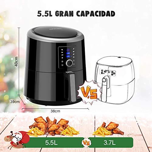 OMORC Freidora sin Aceite【Capacidad 5.5L, 7 Modos de Cocción ...