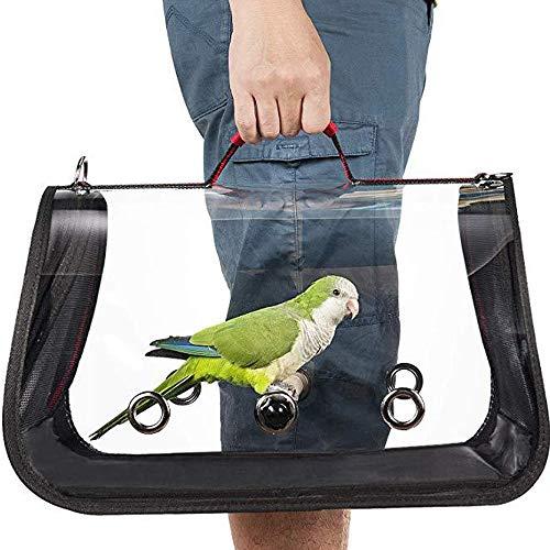 PRETTYLE Vogeldrager Lichtgewicht Vogelreiskooi PVC Transparant Ademende Papegaai Handtas met Rits en Handvat