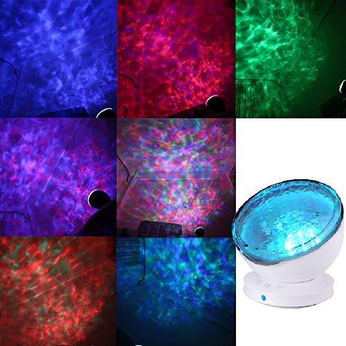 Ocean Lamp, Koiiko multicolore Aurora Master Romantic Fantastic Star Relax Night proiettore luminoso con rilassante musica mini altoparlante, spegnimento automatico e spegnimento automatico dopo 1 ora