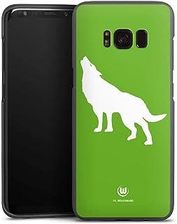 DeinDesign Handyhülle kompatibel mit Samsung Galaxy S8 Cover anthrazit Schutzhülle VFL Wolfsburg Offizielles Lizenzprodukt Wolf