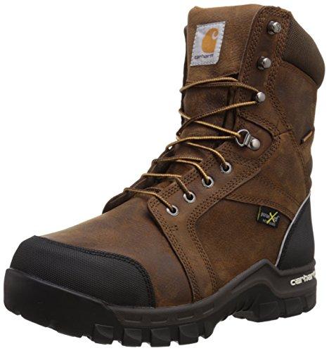 "Carhartt 8"" Men's Waterproof Composite Toe Internal Metatarsal Guard CMF8720 Work Boot, Dark Brown Oil Tanned, 10 M US"