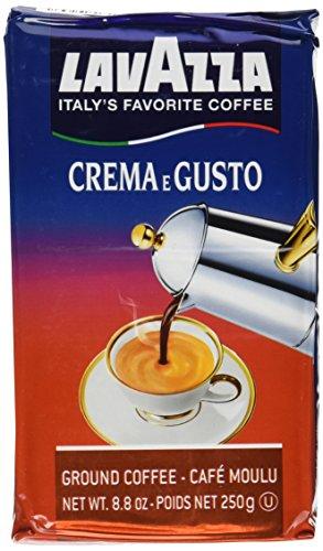 italian coffees Lavazza Crema e Gusto Ground Coffee, Italian Espresso, 8.8-Ounce Brick