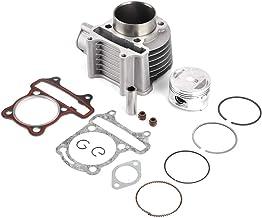 KIMISS Juego de pistón de cilindro de 57.4 mm, culata y kit de pistón para ATV QUAD GY6 150 157QMJ 1P57QMJ Ciclomotor de enfriamiento por aire de 4 tiempos