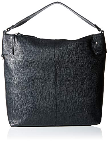 Esprit Accessoires Damen Taia Hobo Schultertasche, Schwarz (Black), 14x36x34 cm
