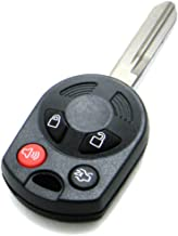 NorthCoast Keyless OEM Electronic 4-Button Remote Head Key Fob HA Blade Compatible with Ford Lincoln Mercury (FCC ID: OUCD6000022, P/N: 164-R7040, 164-R7041, 164-R7042)