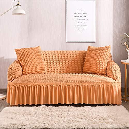 Cubierta de sofá de patrón de Raya Simple Seersucker Falda Sofá Cubierta para Sala de Estar Sofá elástico Cubierta sofá Sofá Funda 1/2/3/4 Seaver