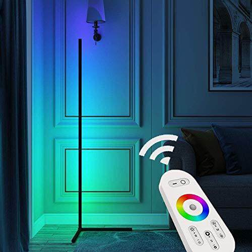 Lámpara de pie de madera de roble sólido Lámpara de pie con 3 colores Temperatura Ajustable Lectura Esquina de la Esquina Lámpara Noche Simple Moderno Hexagonal Design para sala de estar Dormitorio Of