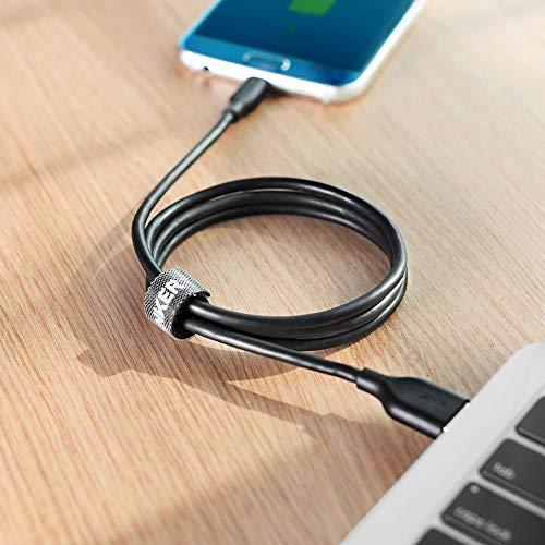 Anker [5-Pack Powerline Micro USB Kabel, Das Sehr Schnelle und Robuste Ladekabel [1x0.3m / 2x0.9m / 1x1.8m / 1x3m] für Galaxy, Nexus, LG, Motorola, Android Smartphones und weitere (Schwarz)