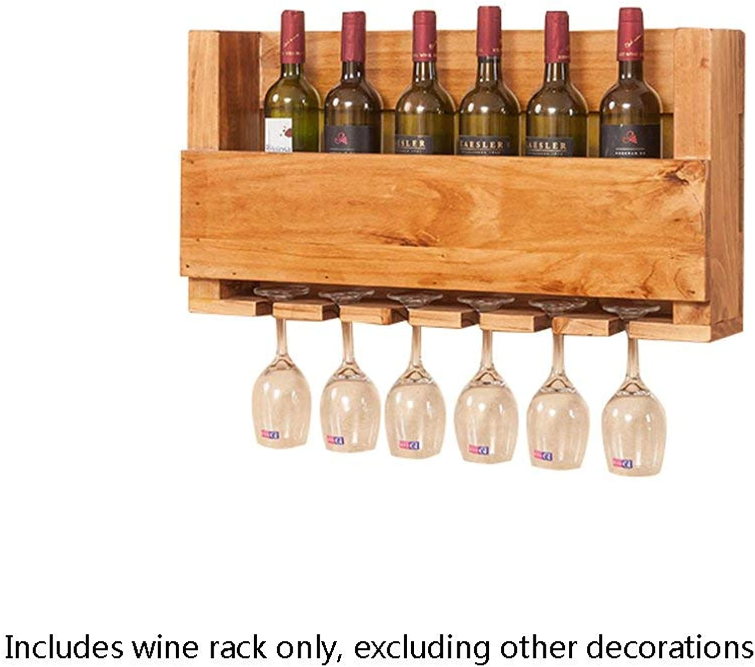 Wine Racks Wooden Suspension Wall Hanging Ornaments Creative Wine Glass Rack Cup Holder Multifunctional Shelf -70  14  36cm (color   -, Size   -)