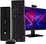 HP PC Desktop Computer, Intel i5, 16GB RAM 512GB SSD, New 23.6' FHD LED Monitor, New 1080p BTO Webcam, New 16GB Flash Drive, BTO Wireless Keyboard & Mouse, DVD, WiFi, Windows 10 Pro (Renewed)