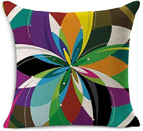 LZBDKM Kussensloop Europese huis decoratieve kussen kleurrijk geometrisch bedrukte kussen 45x45cm katoen linnen zitleuningkussen zonder kern