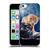 Head Case Designs Oficial Simone Gatterwe Gato Vida Silvestre Carcasa de Gel de Silicona Compatible con Apple iPhone 5c