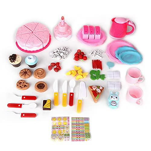 FASJ Cortar Juguetes para Tartas De Cumpleaños, Juguete para Tartas De Cumpleaños De Alta Simulación, para Niños Y Niñas Pequeños