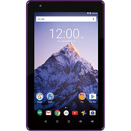 """RCA Voyager PRO 7"""" Tablet 16GB Quad Core includes Keyboard / Case - Purple"""