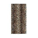 Mnsruu Toalla de baño suave con estampado de leopardo, estilo vintage, 76 x 38 cm
