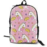 Unicorns U0026 Tacos Adult Premium Travel Backpack, Water-Resistant College School Bookbag, Sport Daypack, Outdoor Rucksack, Laptop Bag for Men&Women