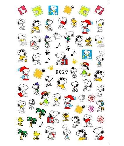 HENJIA Nail Art Autocollant manucure 3D Dessin animé Autocollant Chien décoration adhésif Pokemon Design Autocollant Ongles Autocollant Chat Souris 5 pièces
