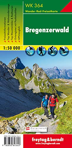 WK 364 Bregenzerwald, Wanderkarte 1:50.000