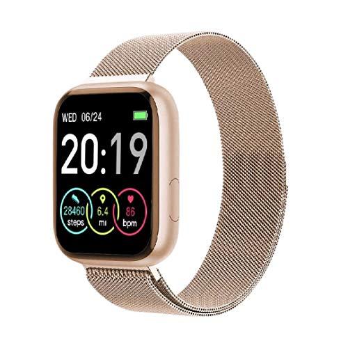 Sami - FIT Plus TACTIL - Smartwatch, Smartband, Pulsera de Actividad Deportiva. Color Dorado. para Android y iOS Función: GPS, presión sanguínea, Fuerza G, Multideportivo. Correa Magnética.