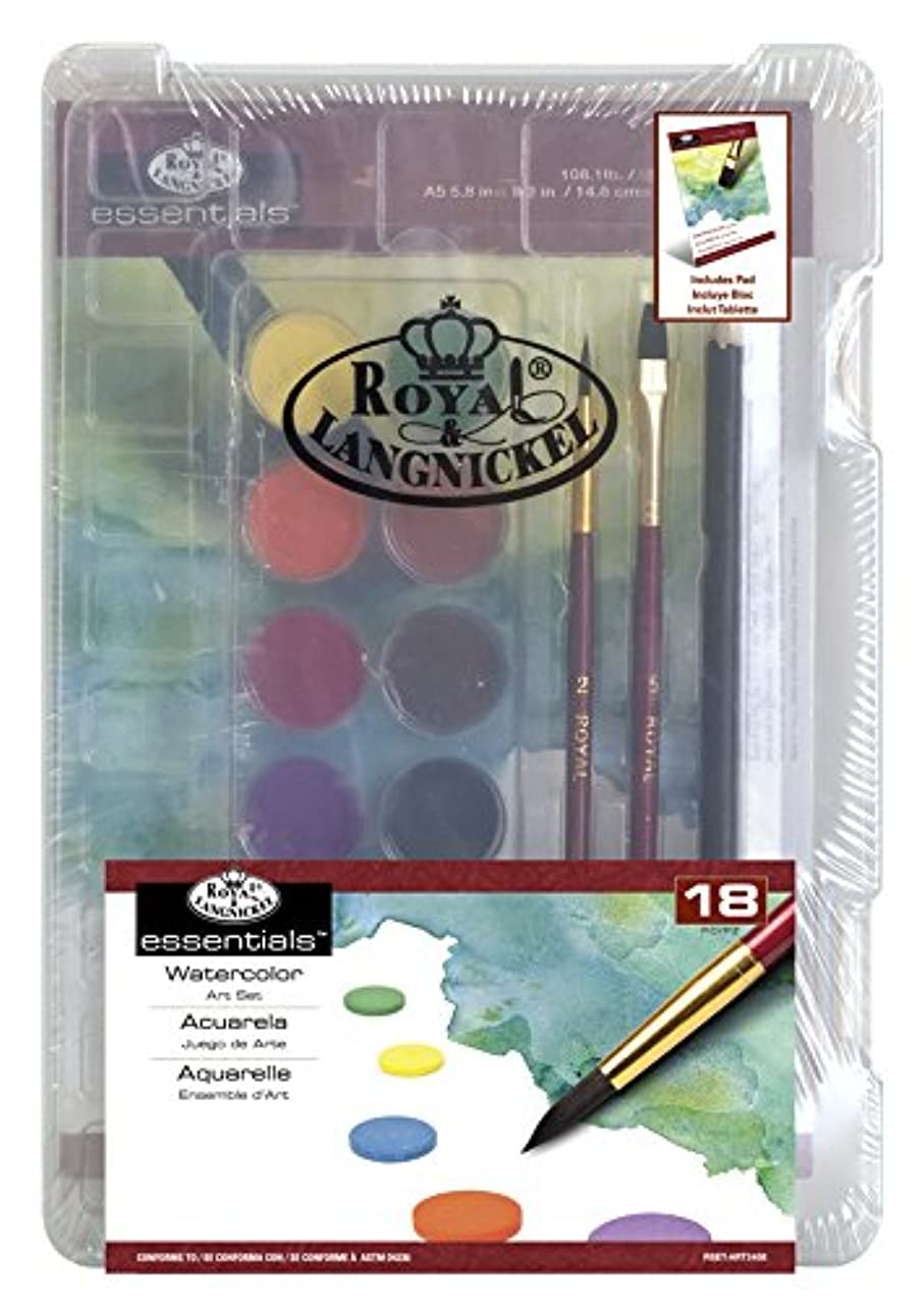 ROYAL BRUSH Clearview Mini Set-Watercolor Art 18pc