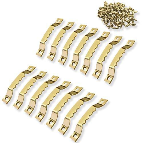 ✮GARANTÍA DE POR VIDA-✮-CZ Store®-Colgador de fotos|Más de 100 tornillos incluidos|Colgador de fotos en metal dorado sólido y duradero, para cuadros/fotos/lienzos/pinturas/relojes/diplomas