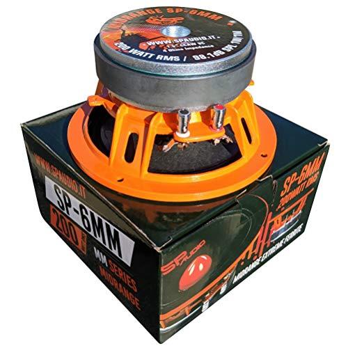 SP AUDIO SP6MM altoparlante diffusore medio basso midrange 16,50 cm 165 mm 6,5' diametro 200 watt rms 400 watt max 4 ohm sensibilità 98.1 db, 1 pezzo