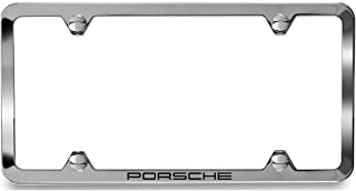 Porsche Polished Stainless Steel Slimline License Plate Frame with Script