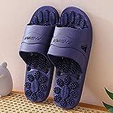 FYSY No Slip Playa Cubierta Pantuflas, Zapatillas de Masaje, baño Antideslizantes par de Sandalias y Zapatillas-Oscuros Blue_41-42, en Mulas Unas Zapatillas de baño Zapatos fangkai77