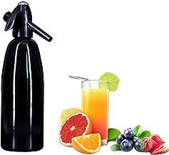 DYJD Soda Siphon Maker, Bouteille de Seltzer portable Eau gazeuse maison Machine à boissons pétillantes 1 L (Noir)