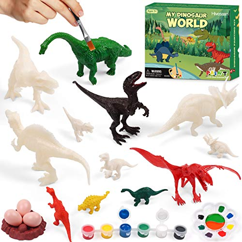 Hiveseen Dinosaurier Spielzeug, 3D DIY Dinosaurier...