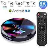 4GB 128GB TV Box Android 9.0 EstgoSZ H96 Max X3 Android TV Box Amlogic S905X3 64-bit Quad core A55 CPU G31 GPU Support 2.4G/5G Dual Wifi/1000MLAN/BT 4.0/USD3.0/H265/HD2.1/3D 4K/8K Smart TV Box