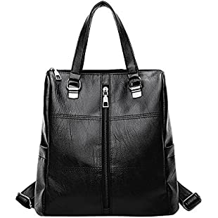 ❤️ Women Girl Backpack Sale Clearance, Xinantime Ladies Vintage Satchel Travel Shoulder Bag Leather School Bag Backpack (🐳 28cm*15cm*28cm, Black)