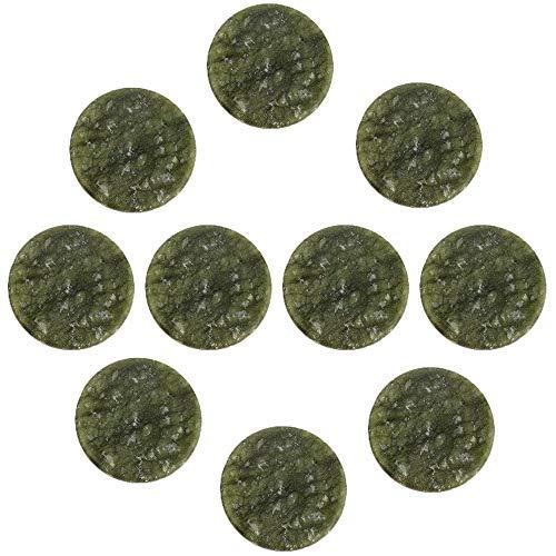 FBSHOP(TM) 10 pomos de gabinete – Tiradores decorativos de piedra de jade para aparadores, armarios y cofres, accesorios redondos hechos a mano para cocina, comedor, 50 mm
