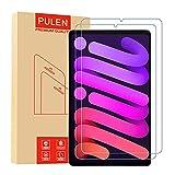 PULEN Panzerglas für iPad Mini 6 8.3 Zoll 2021 Schutzfolie [3 Stück], HD Panzerfolie Glass [9H Festigkeit][Anti-Bläschen] Klar folie Bildschirmschutzfolie
