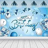 Dacitiery Blau Geburtstag Deko Party Hintergrund Mädchen