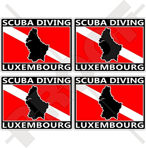 LUXEMBOURG SCUBA Duiken Vlag-Map Vorm 50mm (2