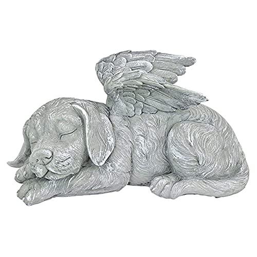 Fenteer Memorial Statue-Schlafen Engel Hund/Katze Erinnerung Andenken Skulptur Grab Marker Stein Figur zu Ehre EIN Geschätztes Pet - Hund